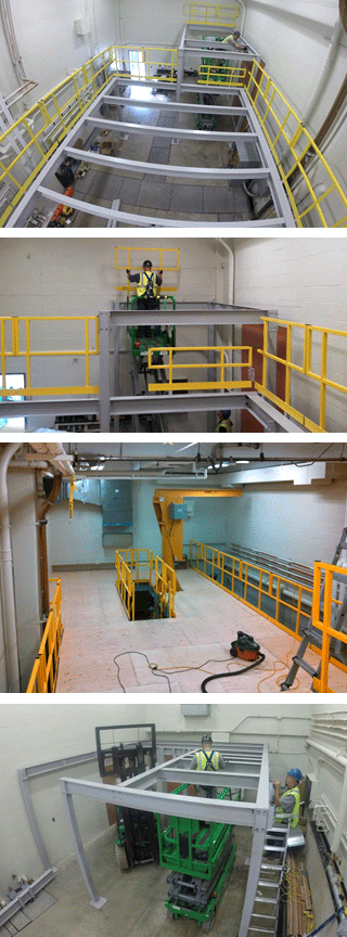 Ebtech mezzanine installation