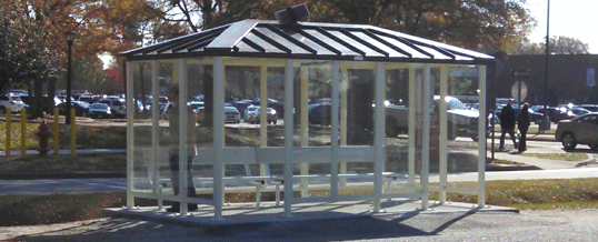 Outdoor Shelter with Solar Powered Lighting