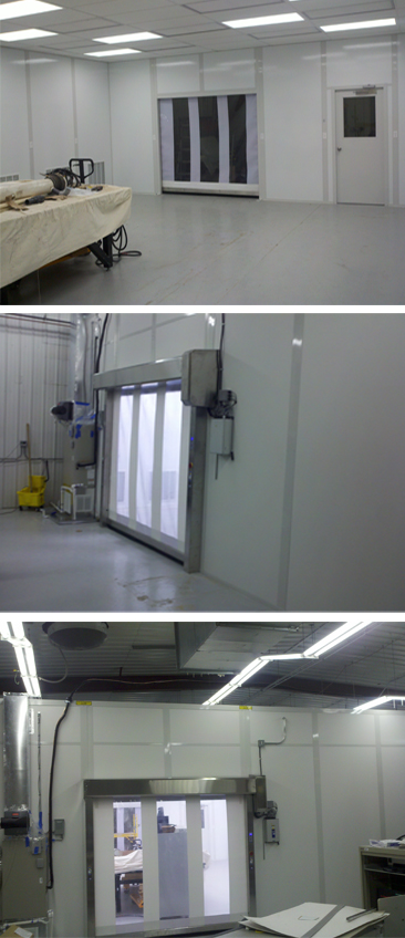 military cleanroom tryptich