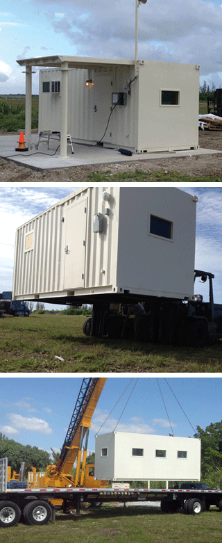 Blast and ballistic protected container buildings
